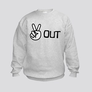 Peace Out Kids Sweatshirt