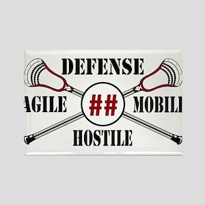 Lacrosse Defense AMH Garnet Magnets