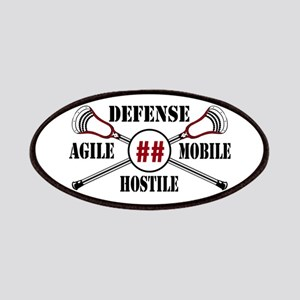 Lacrosse Defense AMH Garnet Patch