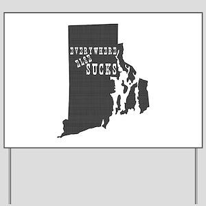 Rhode Island Yard Sign