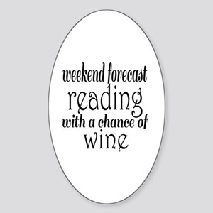 Reading and Wine Sticker (Oval)