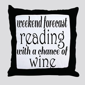 Reading and Wine Throw Pillow