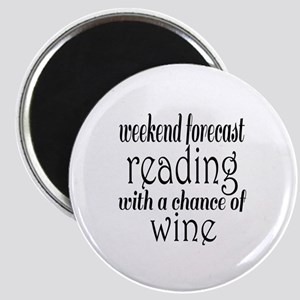 Reading and Wine Magnet