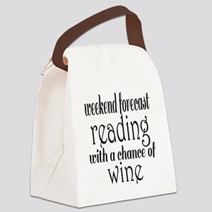Reading and Wine Canvas Lunch Bag