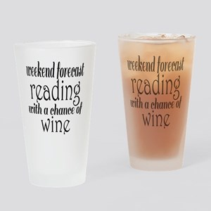 Reading and Wine Drinking Glass