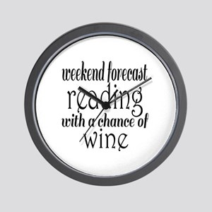 Reading and Wine Wall Clock