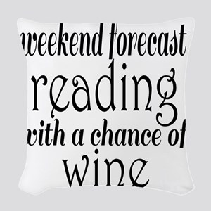 Reading and Wine Woven Throw Pillow