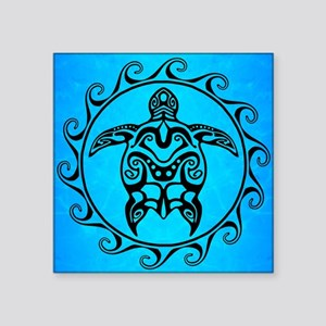 Black Tribal Turtle Sticker