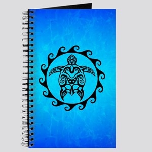 Black Tribal Turtle Journal