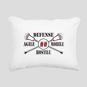 Lacrosse Defense AMH Garnet Rectangular Canvas Pil