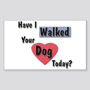 Walked Your Dog Rectangle Sticker