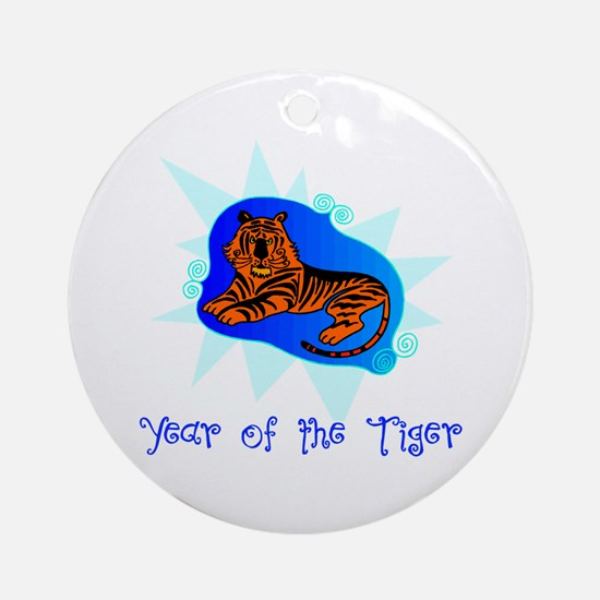 Year of the Tiger Bright Ornament (Round)