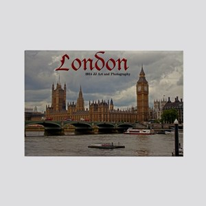 London - Big Ben & Parliament Rectangle Magnet