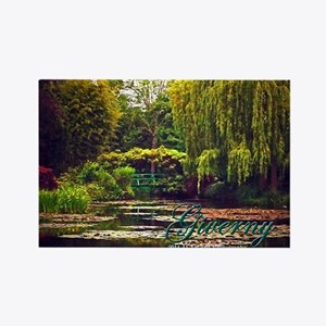 Giverny - Monet's Garden Rectangle Magnet Magn