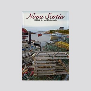 Nova Scotia Fishing Village Rectangle Magnets