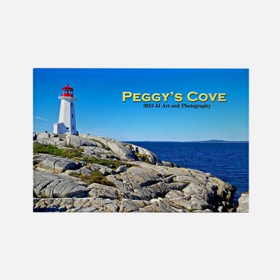 Peggy's Cove Rectangle Magnet Magnets