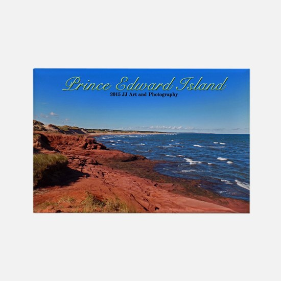 Prince Edward Island Red Beach Rectangle Magnets