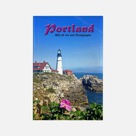 Portland Lighthouse Rectangle Magnet Magnets