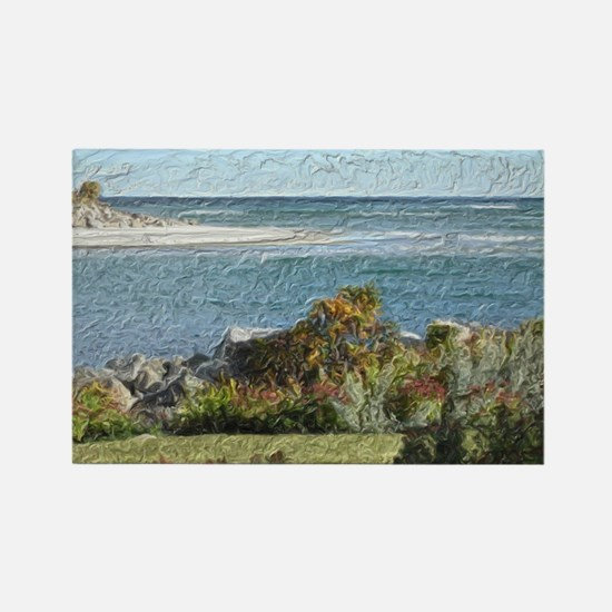 Ogunquit River Blanket Rectangle Magnet