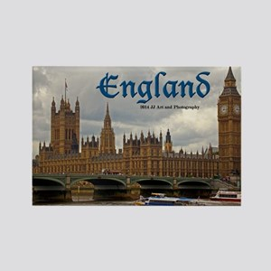 England - Big Ben And Parliament Rectangle Magnets