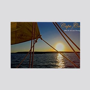 Cape Cod - Sailboat Sunset Rectangle Magnets