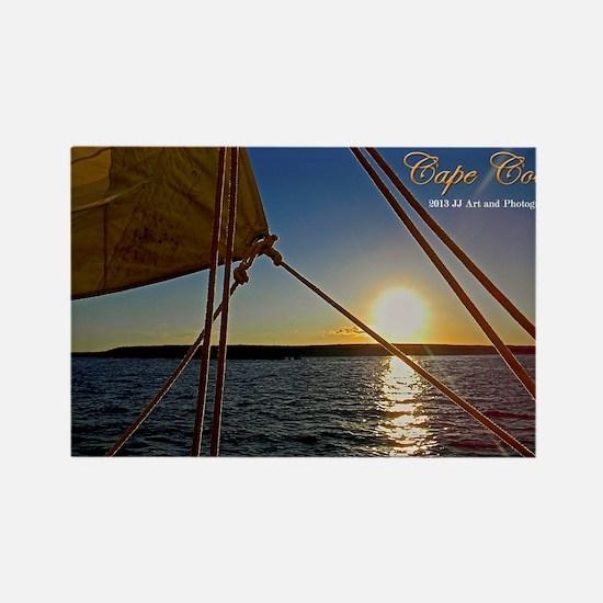 Cape Cod - Sailboat Sunset Rectangle Magnets
