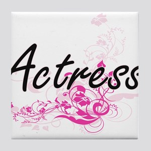Actress Artistic Job Design with Flow Tile Coaster