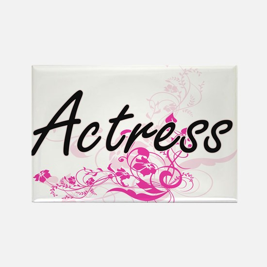Actress Artistic Job Design with Flowers Magnets