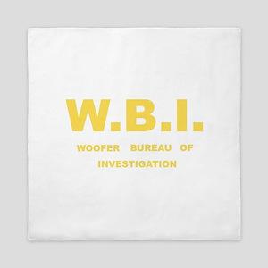 W.B.I.- Woofer Bureau of Investigation Queen Duvet