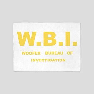 W.B.I.- Woofer Bureau of Investigat 5'x7'Area Rug