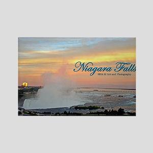 Niagara Falls - Sunset Rectangle Magnet Magnets