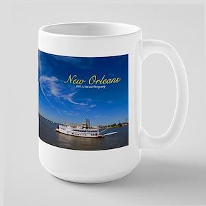 New Orleans Paddleboat Large Mug Mugs