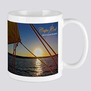 Cape Cod Sailboat Sunset Mug Mugs