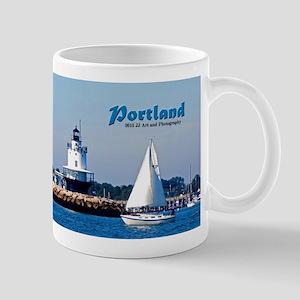 Portland Sailboat And Lighthouse Mug Mugs