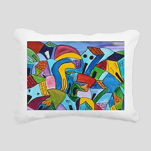 Dancing village 3 Rectangular Canvas Pillow