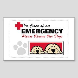 Please Rescue Dogs Rectangle Sticker