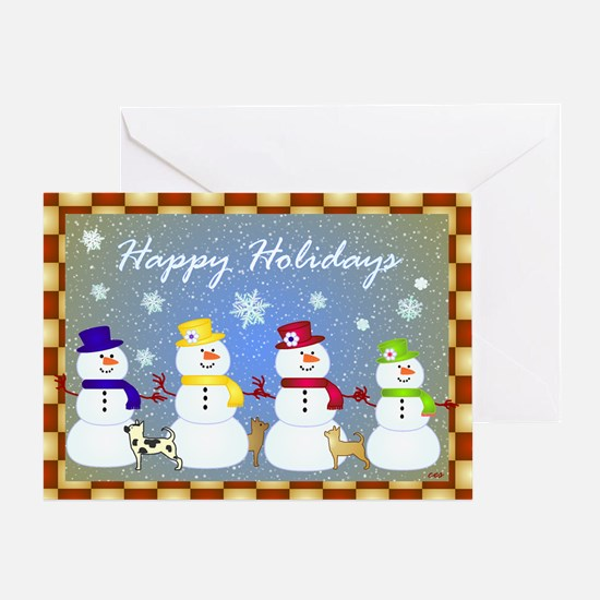 Snowman Family Greeting Card