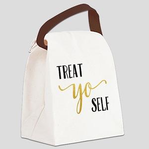 Treat Yo Self Canvas Lunch Bag
