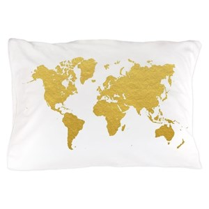 World Map Pillow Cases Cafepress