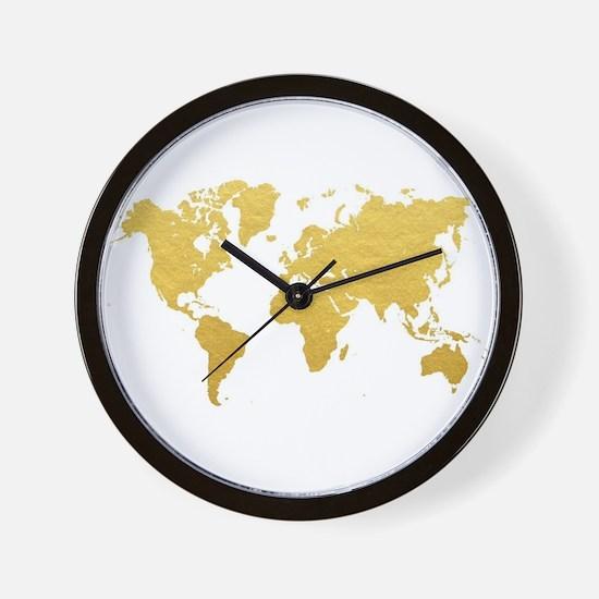 World map clocks world map wall clocks large modern kitchen gold world map wall clock gumiabroncs Image collections