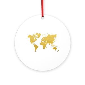 world map ornaments cafepress