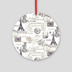 Paris XVIIII Round Ornament
