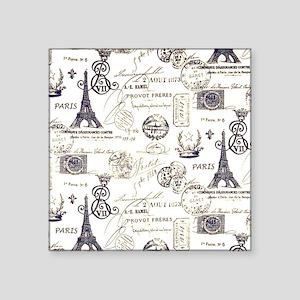 """Paris XVIIII Square Sticker 3"""" x 3"""""""