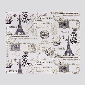 Paris XVIIII Throw Blanket