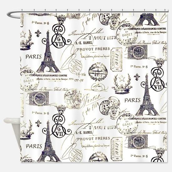Paris XVIIII Shower Curtain
