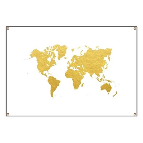 Gold World Map Banner By Admin Cp71974680