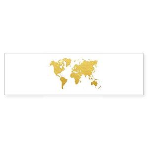 World map bumper stickers cafepress gumiabroncs Choice Image