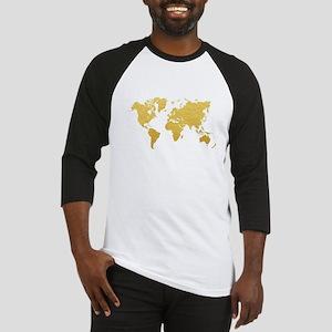 Gold World Map Baseball Jersey
