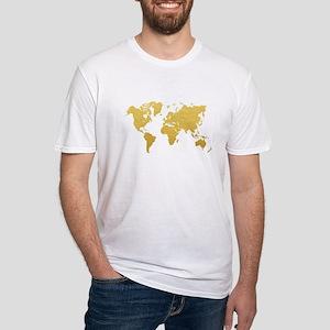 Gold World Map T-Shirt