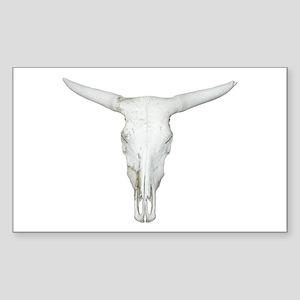 Bull Skull Rectangle Sticker